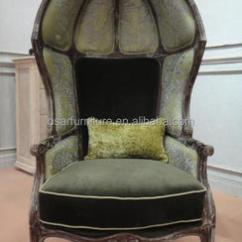 French Canopy Chair Used Eames Country Furniture Dark Green Velvet Antique Buy