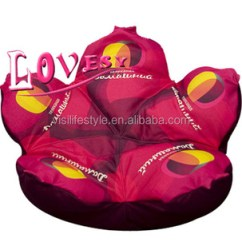 Zebra Print Bean Bag Chair American Girl Doll Outdoor Canvas Flower Shaped Beautiful Beanbag Home
