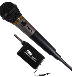 get quotations emb professional emb 35 dual purposes wire wireless undirectional dynamic handheld microphone w [ 2560 x 2560 Pixel ]