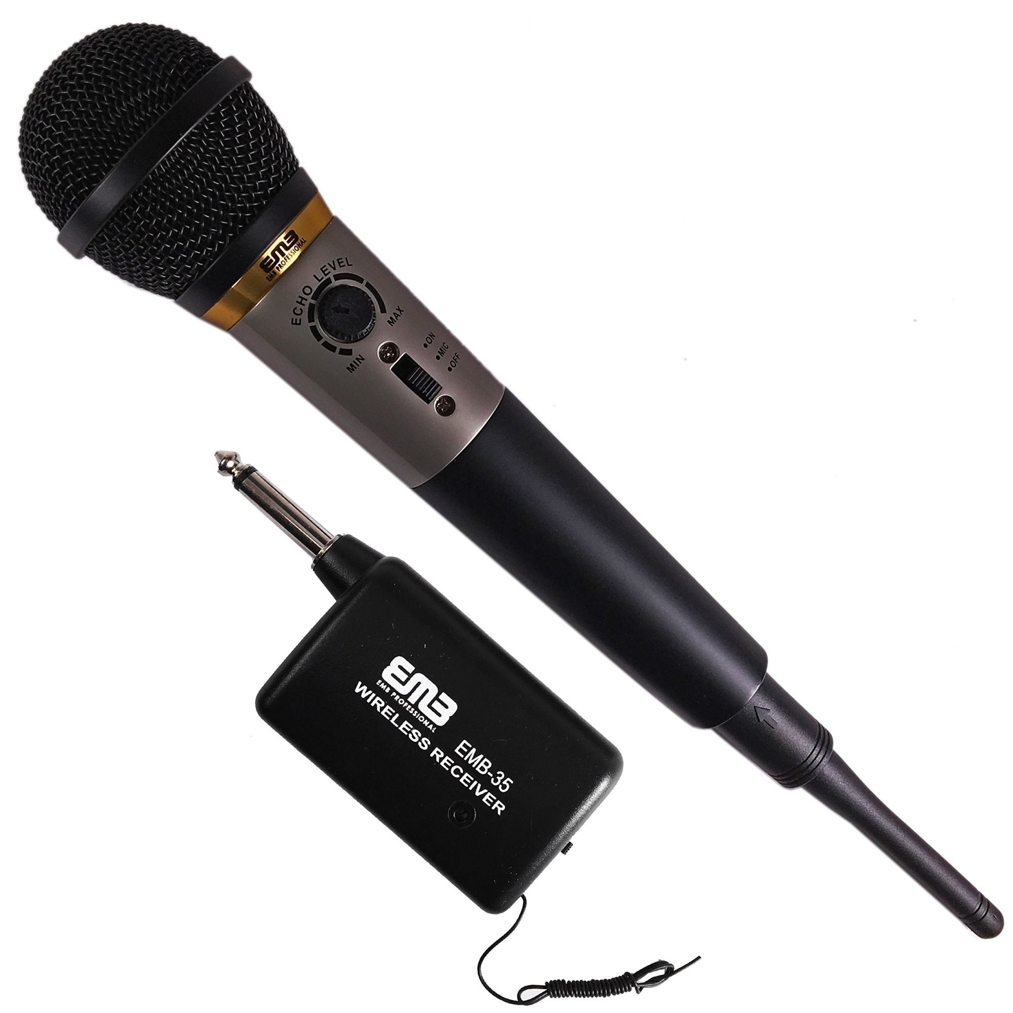 hight resolution of get quotations emb professional emb 35 dual purposes wire wireless undirectional dynamic handheld microphone w