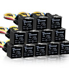 get quotations 12 pack 5 pin spdt automotive waterproof relay set heavy duty 40 30 amp 24v [ 1001 x 1001 Pixel ]