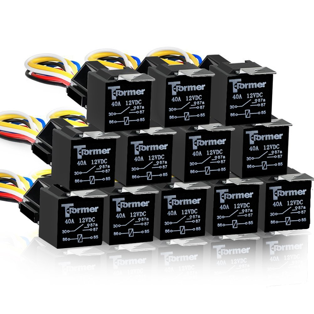 hight resolution of get quotations 12 pack 5 pin spdt automotive waterproof relay set heavy duty 40 30 amp 24v