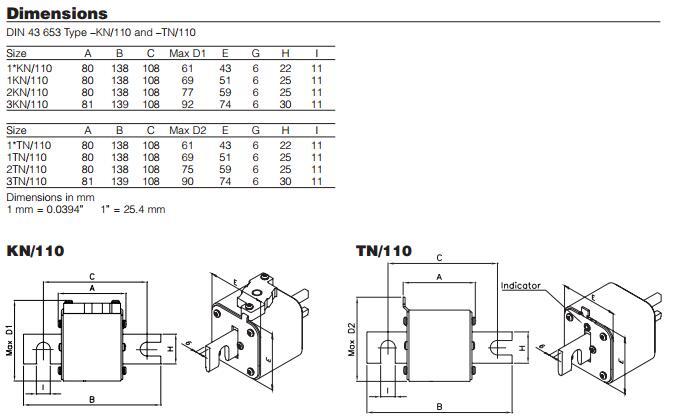 1000a 1000v Link Fuse Bussmann 170m8650 Electronic Fuse