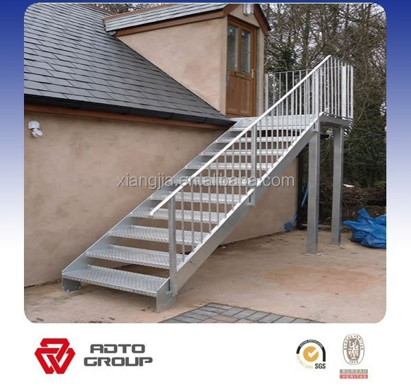 Simple Prefab Outdoor Steel Stairs Buy Prefab Stairs Prefab Steel | Prefab Outdoor Wood Stairs | Manufactured Home | Trailer | 8 Foot | New Style | Portable