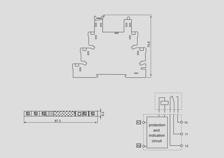 Asiaon 38.51 Din-rail Slim Relay Control Socket 6-24v 48