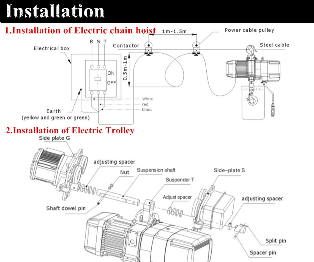hight resolution of 0 5ton electric chain hoist kito chain hoist yale chain hoist