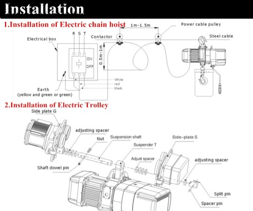 small resolution of 0 5ton electric chain hoist kito chain hoist yale chain hoist