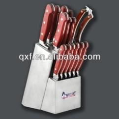 Red Kitchen Knife Set Outdoor Layout Wood Handle Best Steel Buy