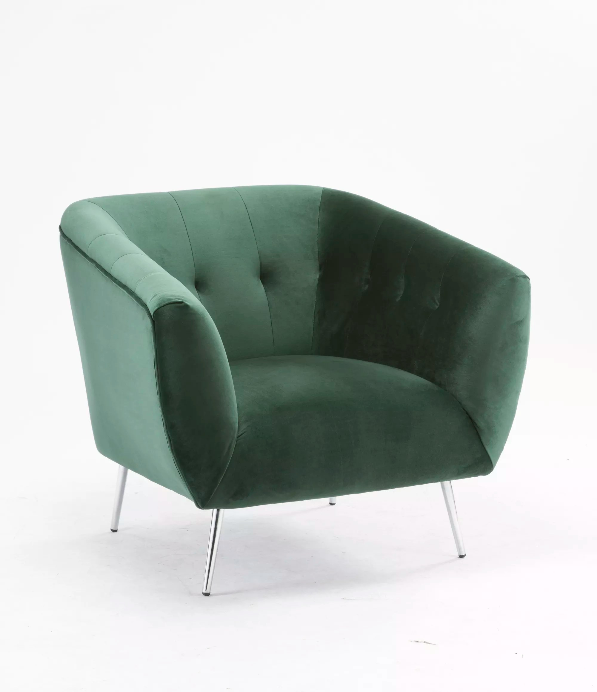 velvet chair design legs for chairs luxury modern green accent with arms arm living room leisure