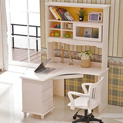 White Wooden Chair For Desk Shower Chairs Elderly Home Office Furniture Kid Children Computer Study With Bookshelf