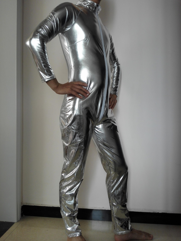 Latex Catsuit Man Men Leather Zipper Catsuit Shiny Man Catsuit Costumes  Buy Latex Catsuit Man