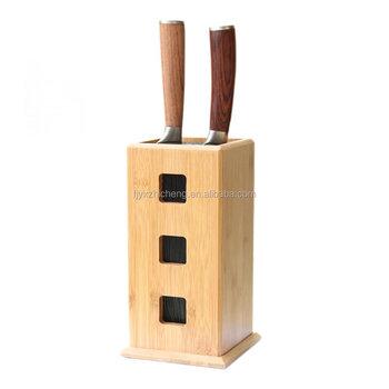 kitchen knife storage corner shelf slotless bamboo bristle block steady knives stand for organizer and holder