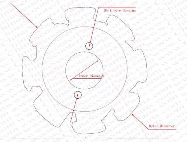 Magneto Stator 8 Pole 4 Wire Flywheel Rotor Gy6 50cc