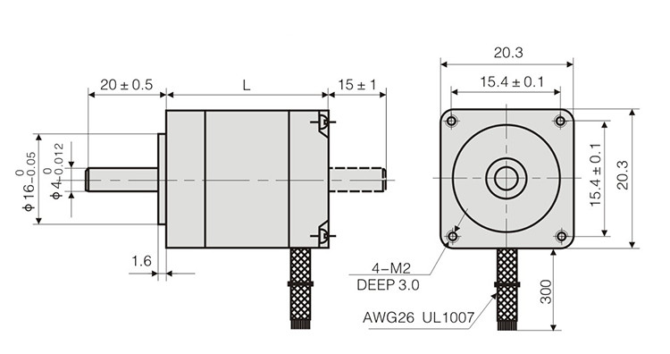 Two Phase 28mm Hybrid Stepper Motor For Cnc Mill Router