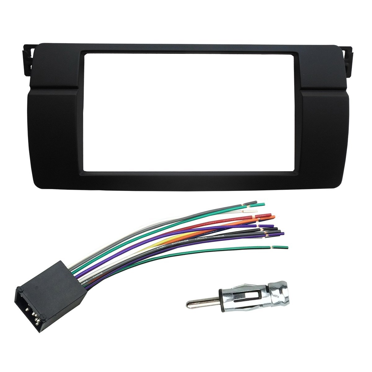 hight resolution of dkmus dash installation trim kit for bmw 3 series m3 e46 facia double din radio stereo