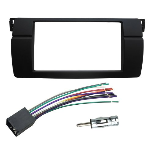 small resolution of dkmus dash installation trim kit for bmw 3 series m3 e46 facia double din radio stereo