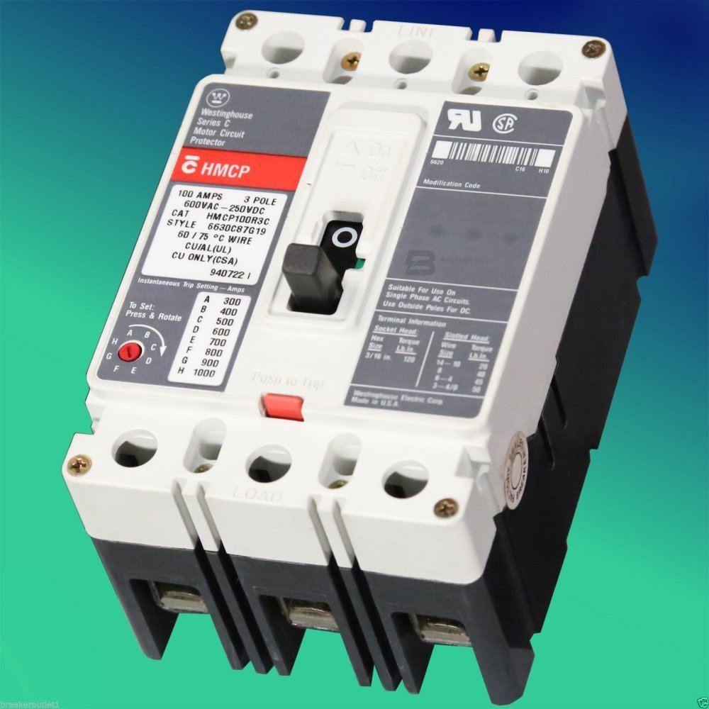 hight resolution of get quotations new cutler hammer eaton hmcp015e0c motor circuit breaker protector 15a 600vac