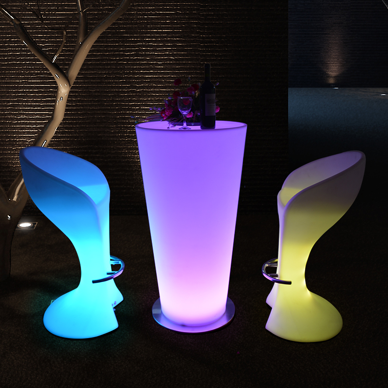 led table and chairs desk chair fluffy high top party tables set furniture bar lighting
