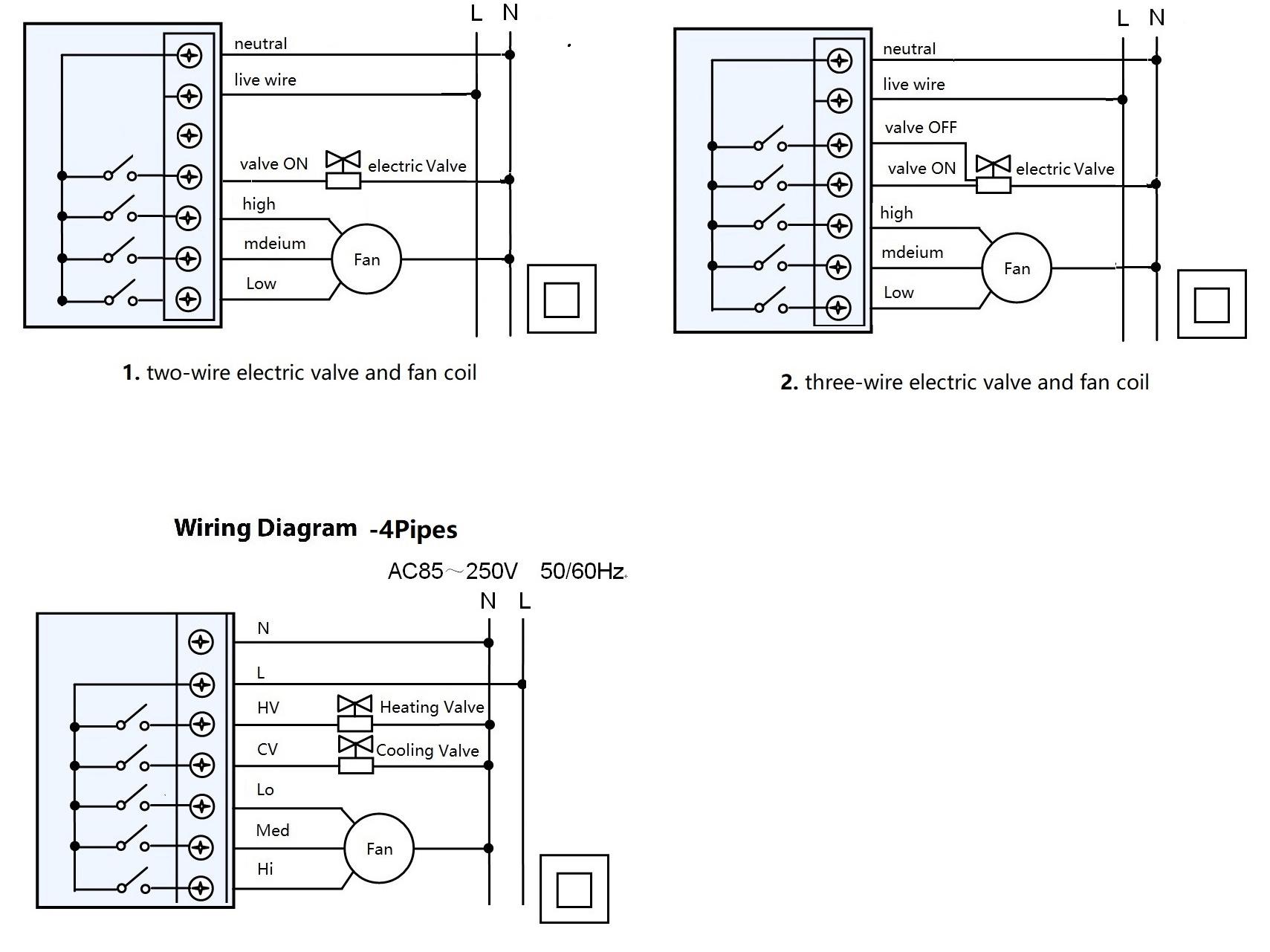 Dx Model Thermostat Black Colour