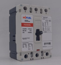 moulded case circuit breaker fd series fit for cutler hammer westing house fd3030 [ 1000 x 1000 Pixel ]
