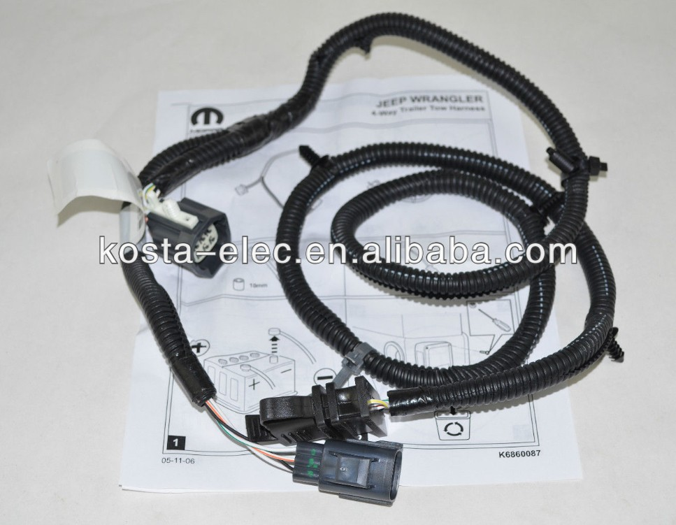 Jeep Tow Wiring Jeep Wrangler Trailer Wiring Harness Wiring