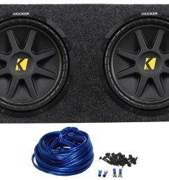 2 kicker 10c12d4 12 800w dual 4 ohm comp car audio subwoofers subs [ 1250 x 821 Pixel ]