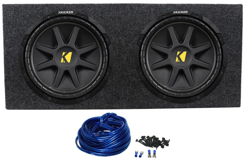 medium resolution of 2 kicker 10c12d4 12 800w dual 4 ohm comp car audio subwoofers subs