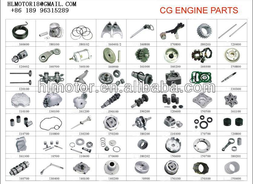 125CC 150CC CG150 MOTOR DE PEÇAS de REPOSIÇÃO do motor Da