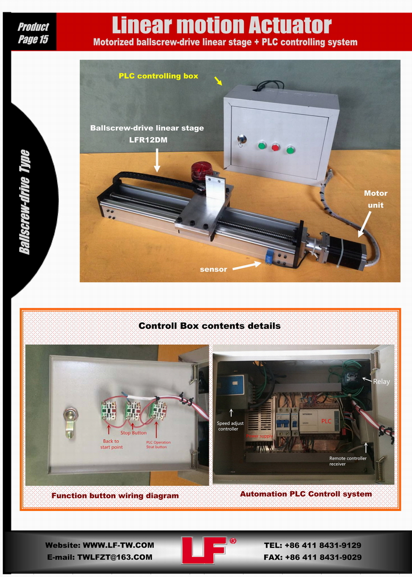 hight resolution of xyz linear motion system