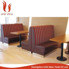 China Sofa Fabric Synthetic Leather Commercial Use Double Side Restaurant Booth Seating Fast ...