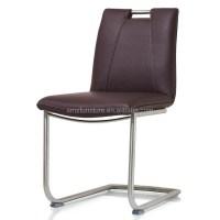 Dining Room Chrome Chair Pu Leather Metal Frame Armrest ...