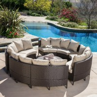 8 Seaters Circled Patio Furniture With Cocktail Table ...