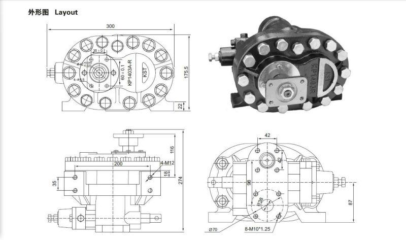 Hydraulic Gear Oil Pump For Dump Truck Kp1403a-r Kp1403