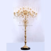 Antique Crystal Chandelier Floor Lamps