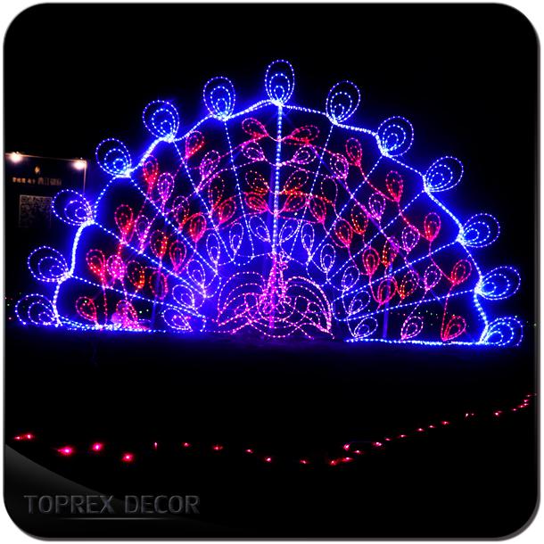 Peacock Outdoor Christmas Decor