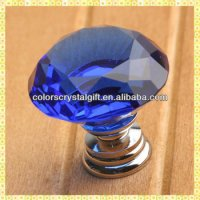 Blue Diamond Decorative Glass Door Knobs For Drawer ...