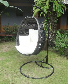 New Design Pe Rattan Hanging Egg Chair/ Outdoor Pe Wicker