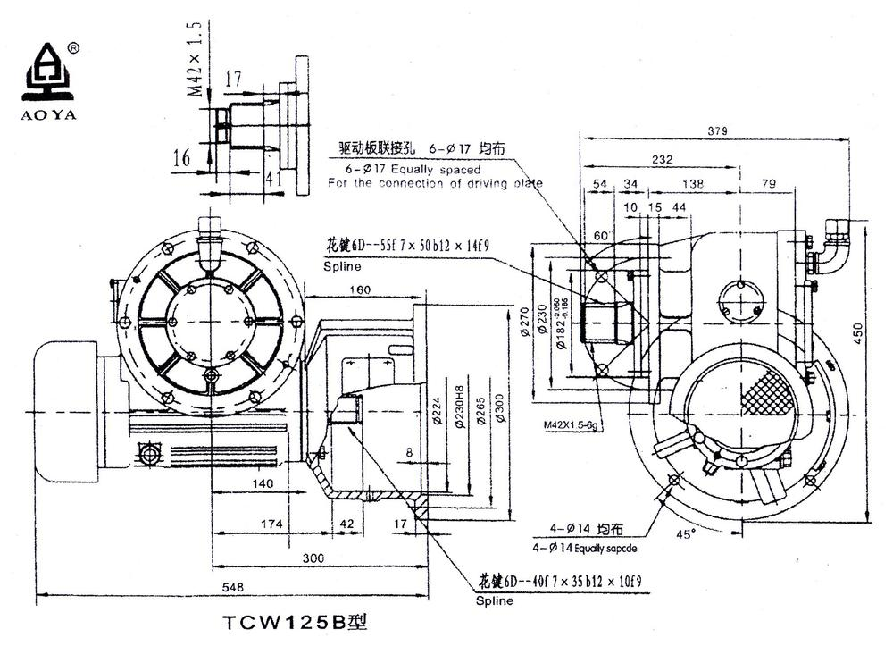 1:80 Ratio Speed Reducer Gearbox For Construction Hoist