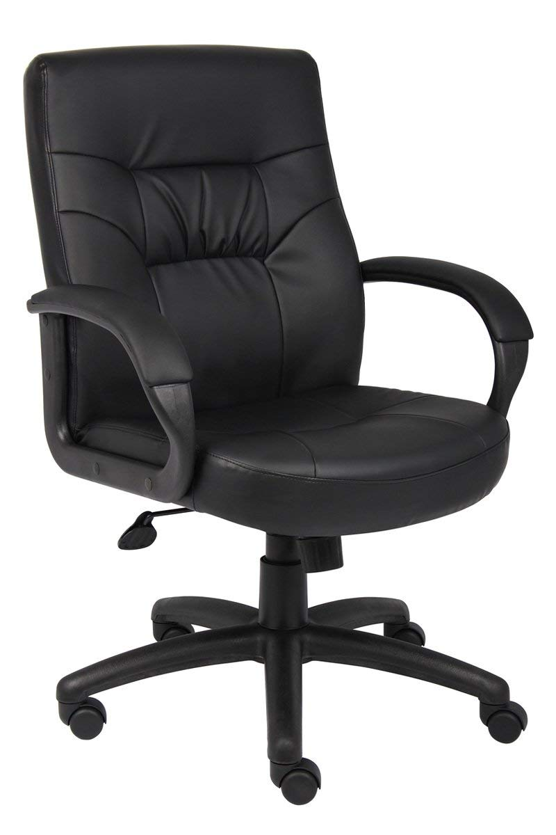 blue leather office chair ergonomic ikea cheap chairs find get quotations boss mid back executive