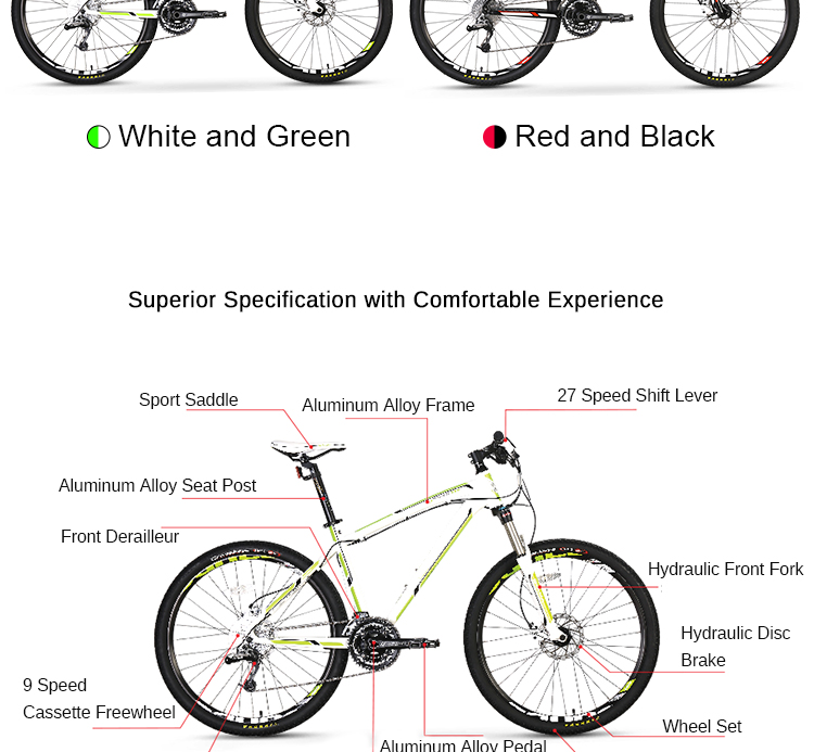 China Customized Women Downhill Gear Cycle Bicycle High