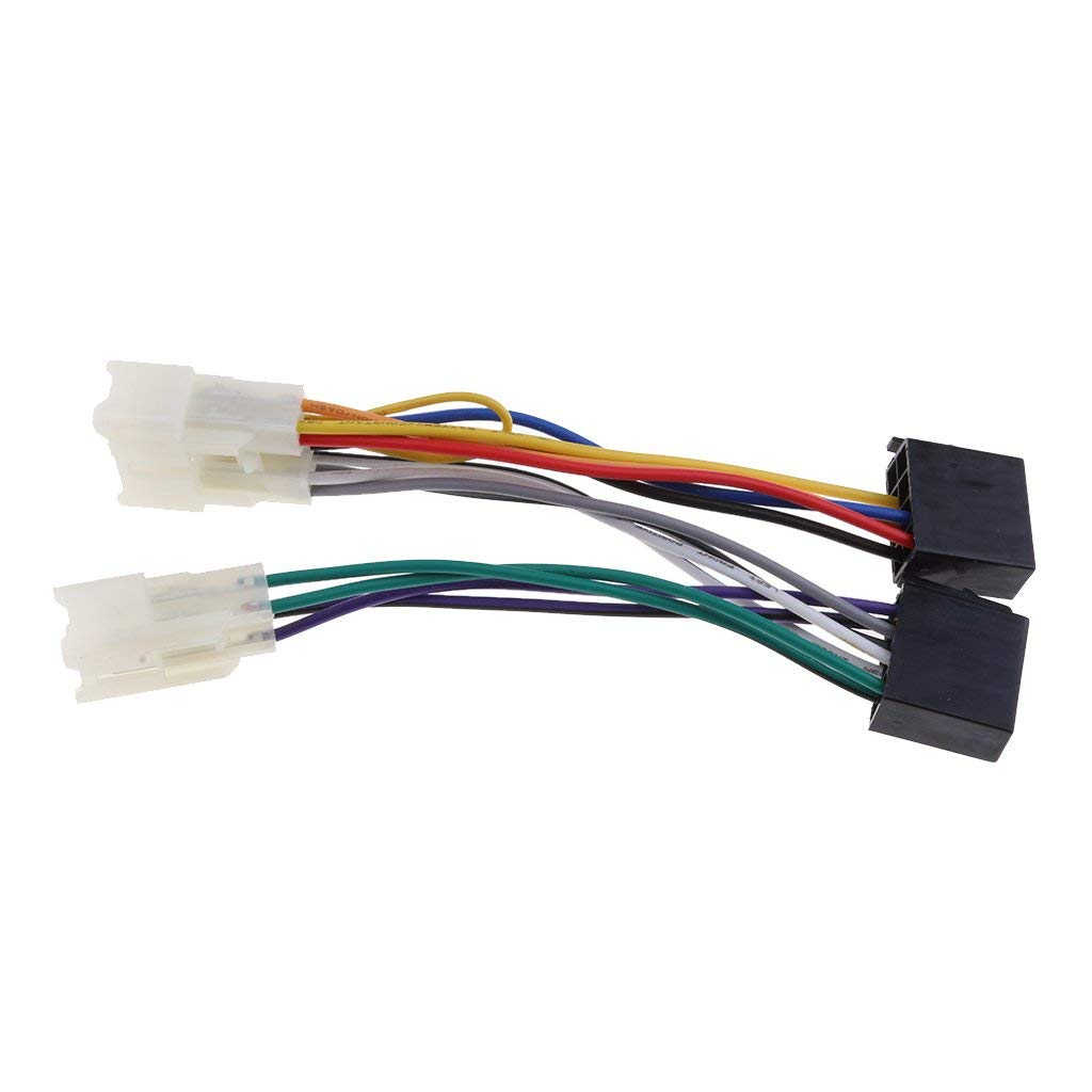hight resolution of get quotations magideal for toyota yaris iso stereo head unit harness adaptor wiring loom lead cable