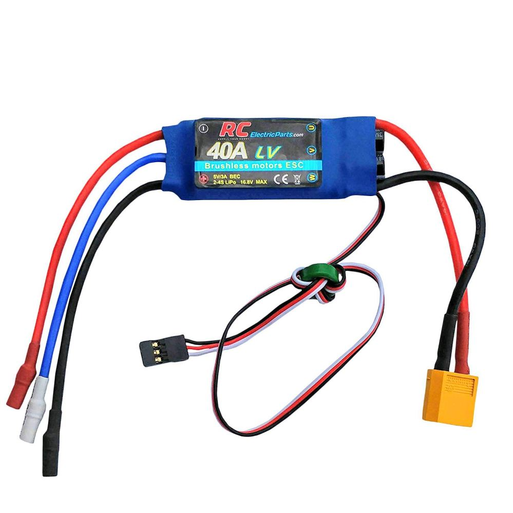 medium resolution of get quotations 40a rc brushless motor electric speed controller esc 3a ubec with xt60 3 5mm bullet