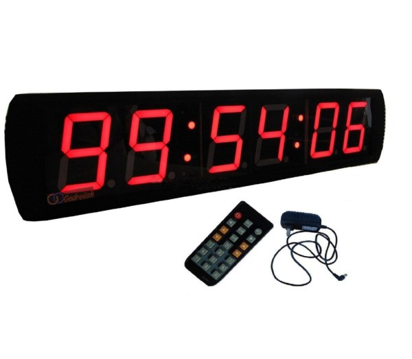 Countdown Timer Large LED Digital Wall Clock