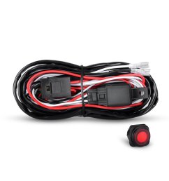get quotations nilight off road led light bar wiring harness kit 12v relay on off rocker switch [ 1000 x 1000 Pixel ]