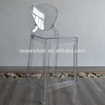 ghost bar chair gold folding covers crystal plastic