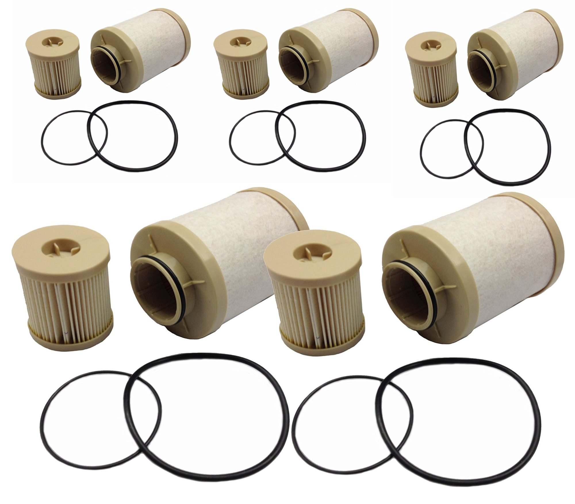 hight resolution of get quotations ford 6 0l 2003 2007 updated 4616 diesel fuel filter 5 pack includes lower lifter