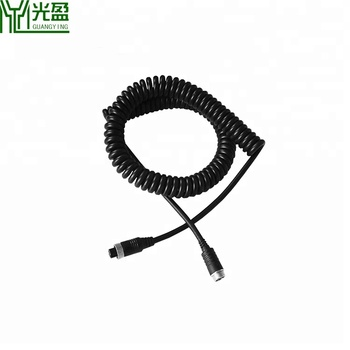 M12 4pin Aviation Male To Female Spring Extension Vehicle