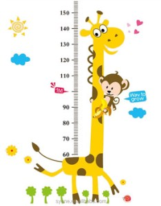 dgiraffe height chart wall sticker handmade paper decorations baby kids nursery measurement also rh alibaba