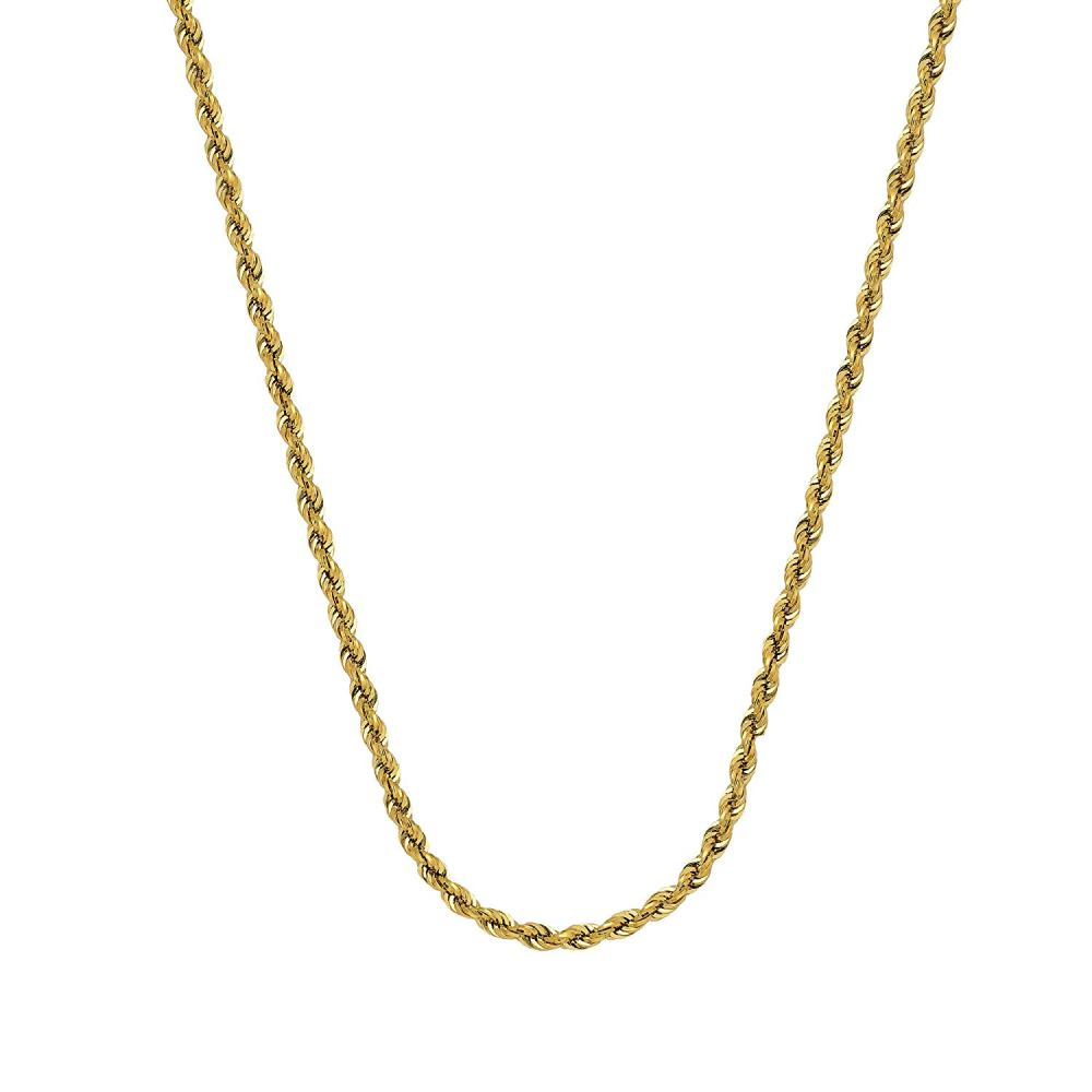 medium resolution of get quotations rope chain 14kt gold hollow rope chain with lobster lock8 inches long