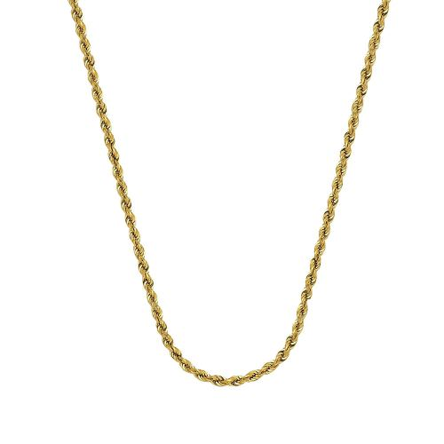 small resolution of get quotations rope chain 14kt gold hollow rope chain with lobster lock8 inches long